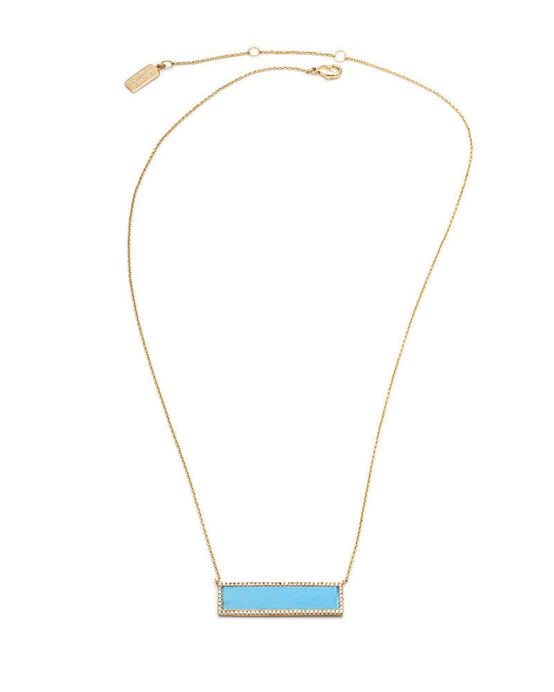 melanie auld turquoise stone bar necklace