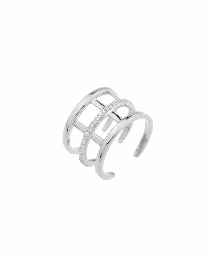 Melanie Auld Pave Cage Ring