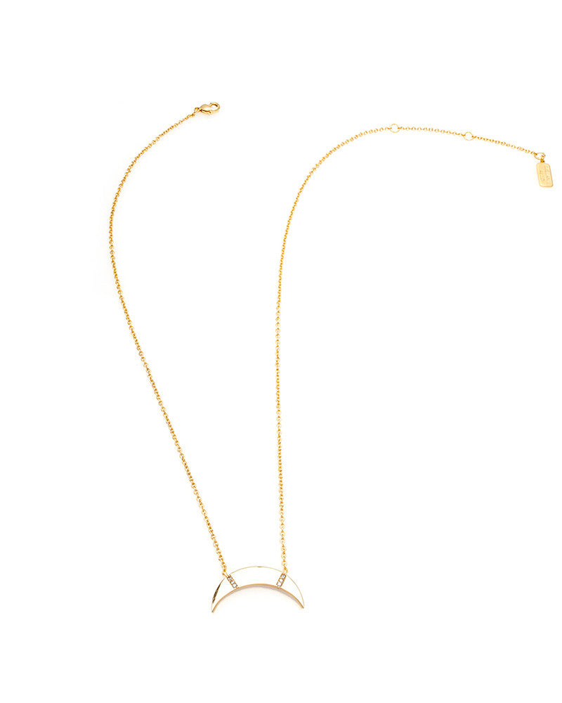 melanie auld slice gold necklace