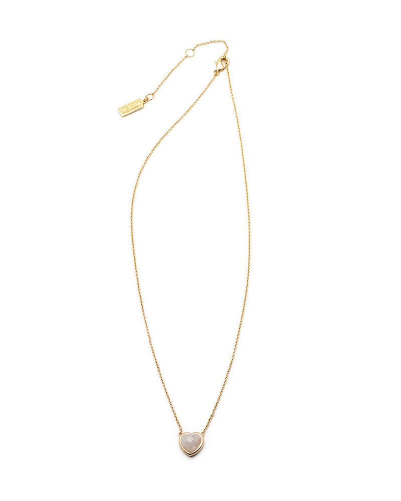 melanie auld stone heart moonstone necklace