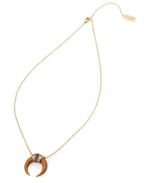 Melanie Auld Tusk Wood Necklace Charm