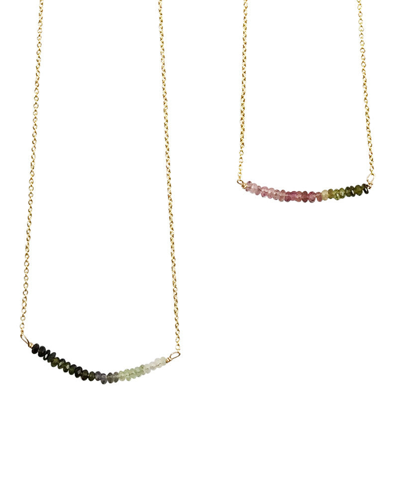 Multicolored Glass Beaded Curved Fashion Jewelry Necklace