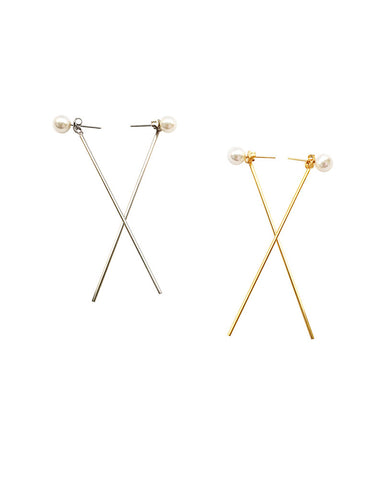 Meridian Avenue Dangling Pearl Earrings