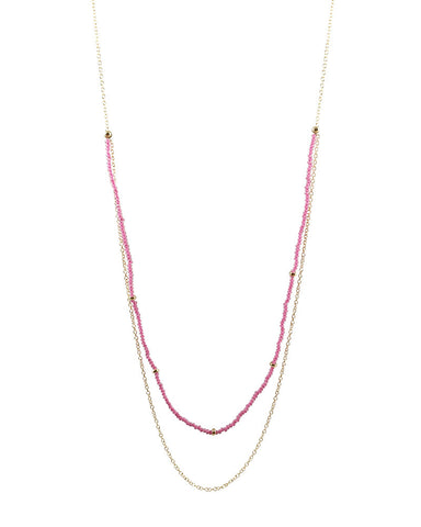 Pink Glass Fashion Jewelry Beaded Necklace