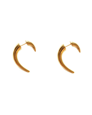 Meridian Avenue Gold Tusk Earrings