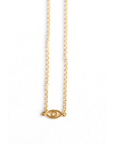 Meridian Avenue Mini Evil Eye Gold Bracelet