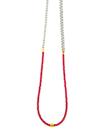 Meridian Ave Jewelry Ruby Jade Gemstone Necklace