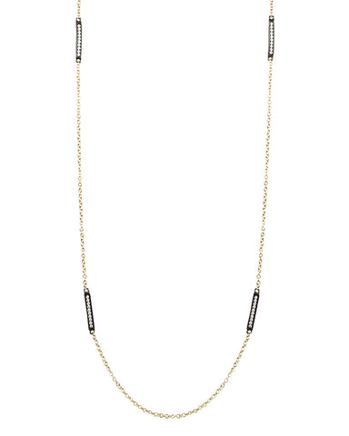 Little Pave Bars Gold Necklace