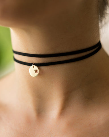 star disc choker necklace