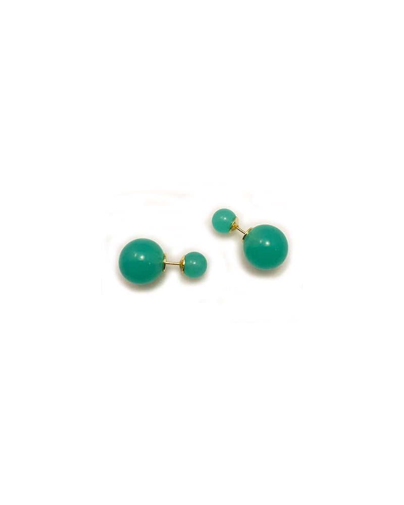 Meridian Avenue Natural Seafoam Polymer Stud Earrings