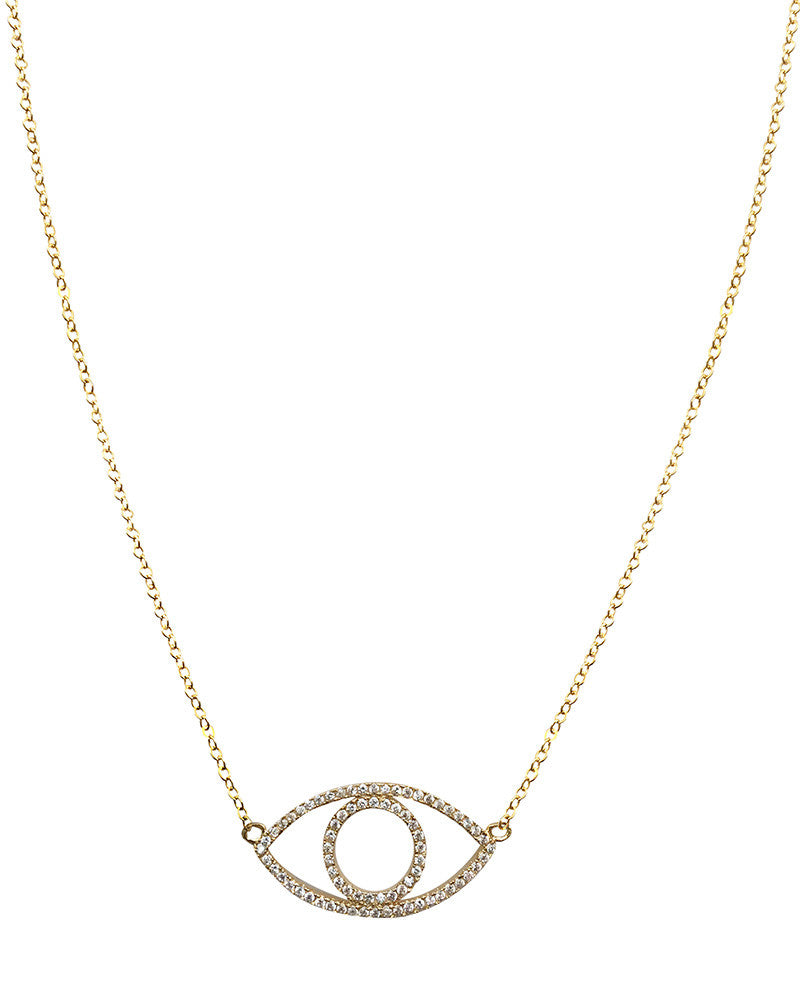 Pave Evil Eye Necklace Meridian Avenue
