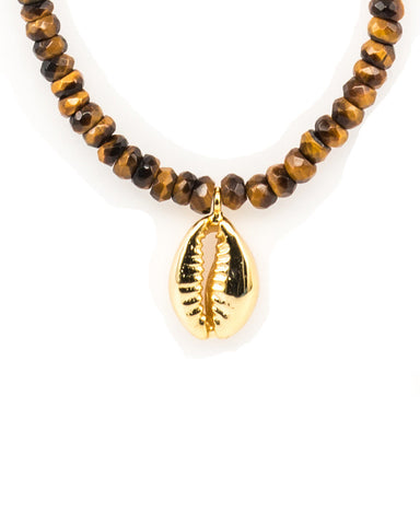 Meridian Avenue Tiger Eye Beaded Handmade Necklace