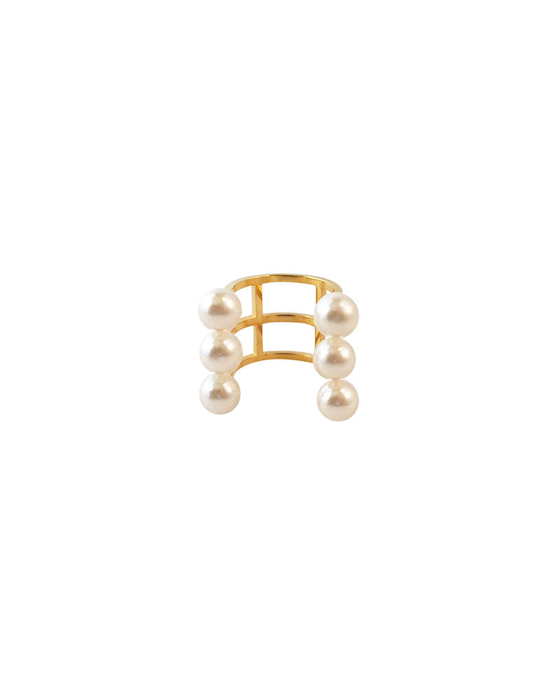 Meridian Avenue Triple Pearl Open Ring