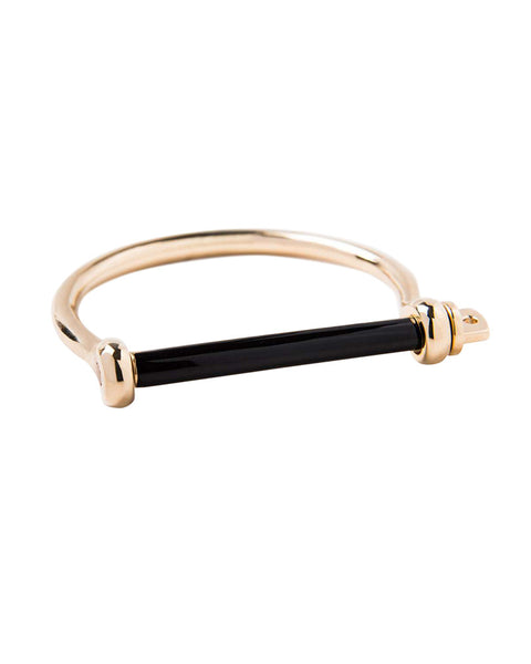 Miansai Black Enamel Gold Cuff