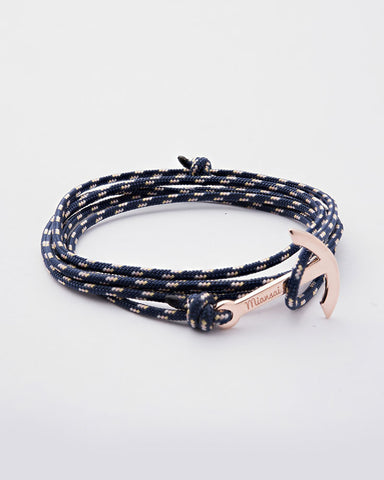 miansai rose gold anchor bracelet