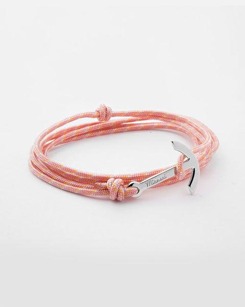 miansai mini anchor on peach rope