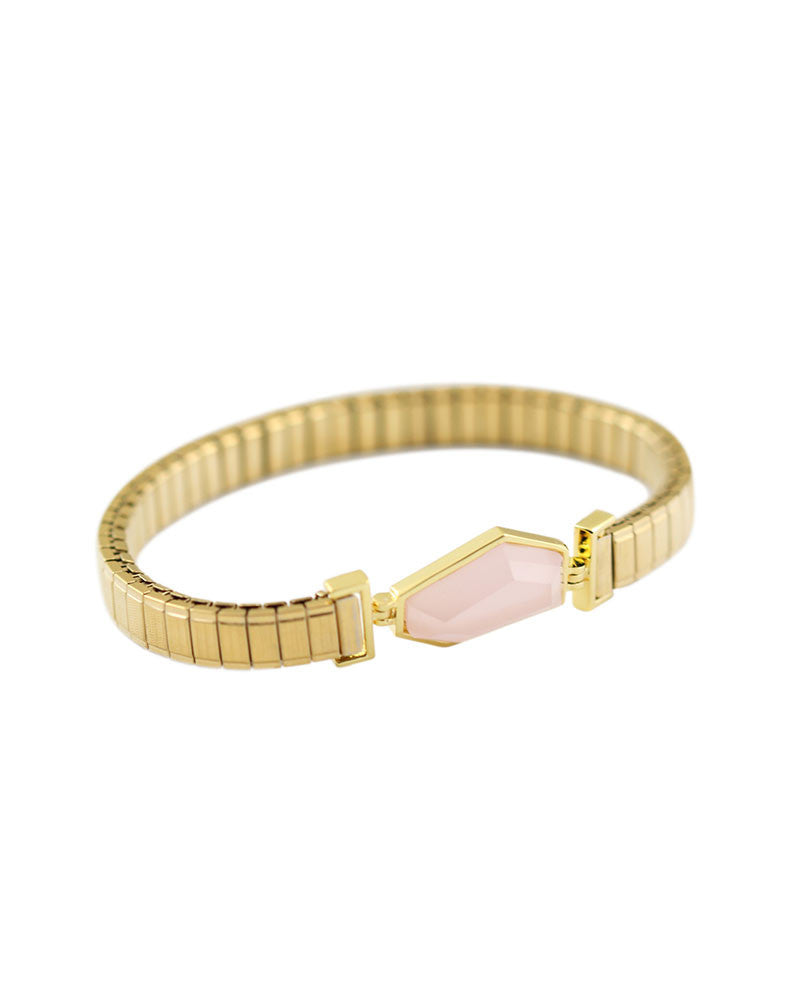 fullxfull calming pink il products opal bracelet healing stretch natural quartz gemstones stone