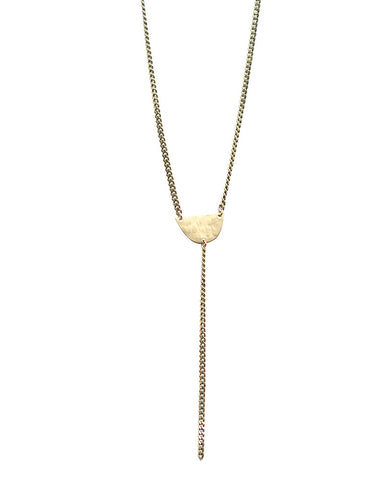 One Oak Jewelry Camille Brass Necklace