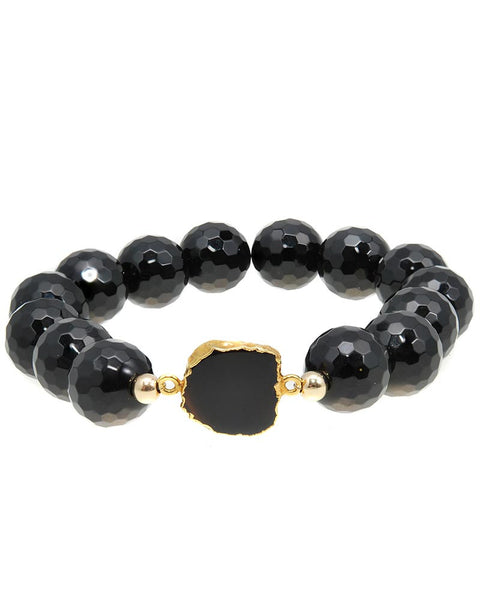 Black Onyx piece on onyx bracelet