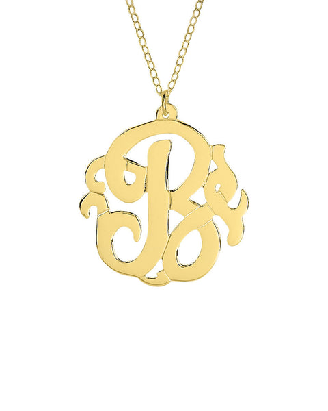 gold letter B initial necklace