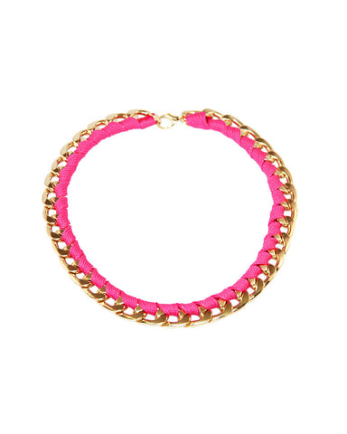 Neon Gold and Pink Chain Necklace