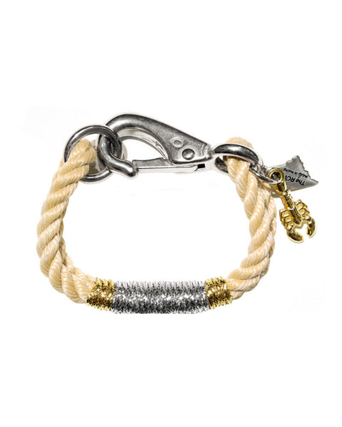 The ROPES neutral lobster charm bracelet