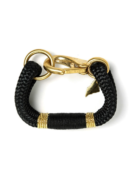 the ropes maine black and gold braid bracelet