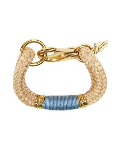 The Ropes Maine Cream and Baby Blue Bracelet