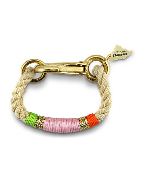 ropes main bracelet pink camden cocktail