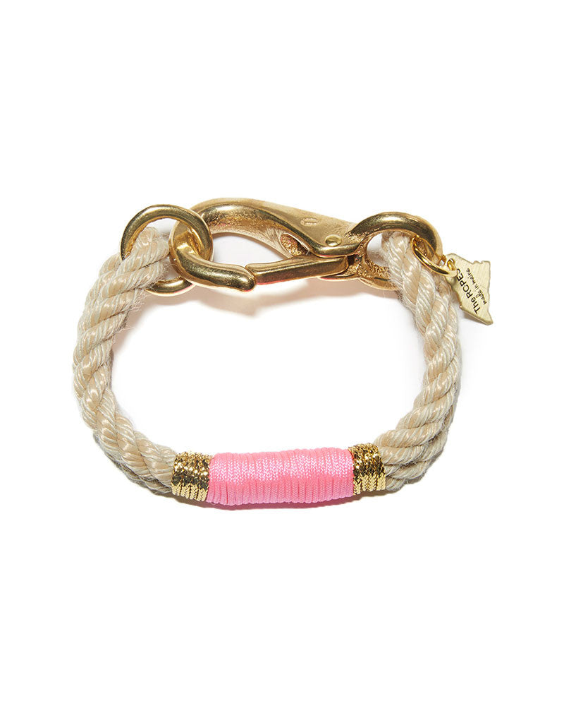 pink natural gold ropes maine bracelet