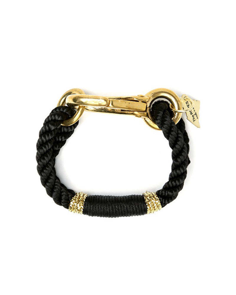 ropes camden gold and black bracelet