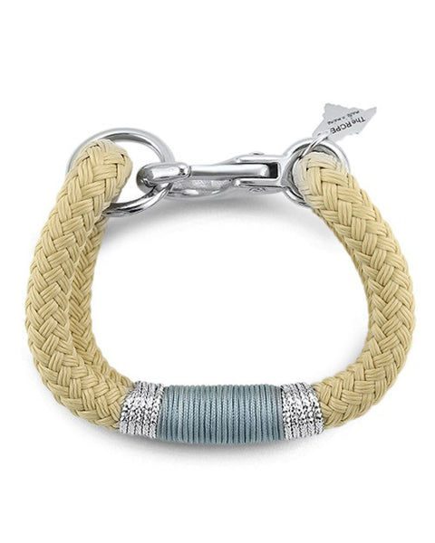 ropes maine grey and beige bracelet