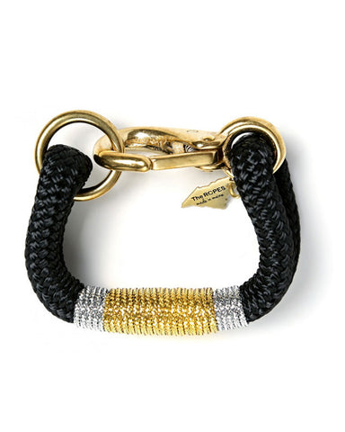 ropes of maine bracelet black gold