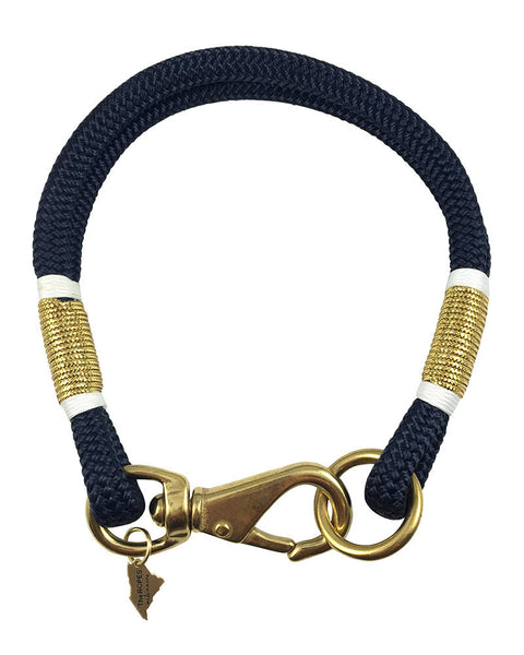 navy yacht ropes of maine necklace