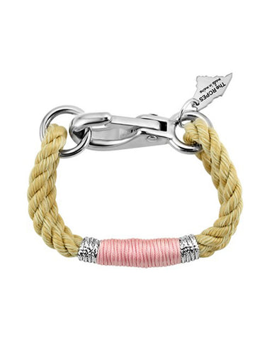ropes camden bracelet in pink and silver