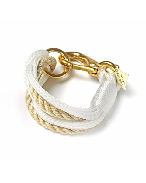 Ropes Maine Bracelet White and Natural