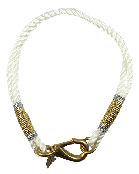 ropes maine necklace white