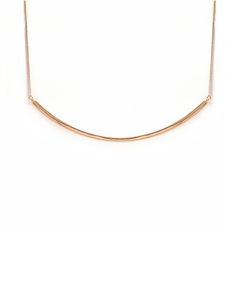 Rose Gold Melanie Auld Bar Collar Necklace