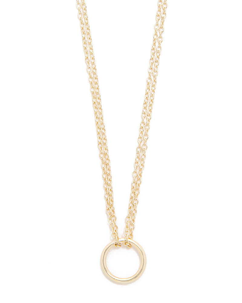 shashi gold circle necklace