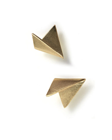 MAU Simple Fold Stud Earrings