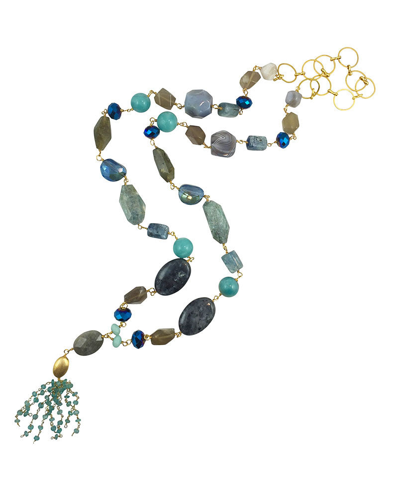 Sirissima Blue Chunky Candy Necklace