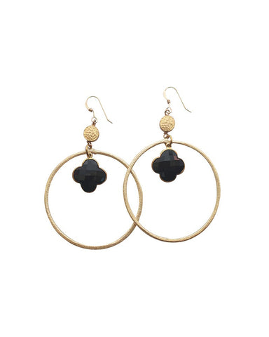 Sirissima Grover Dangle Hoop Earrings