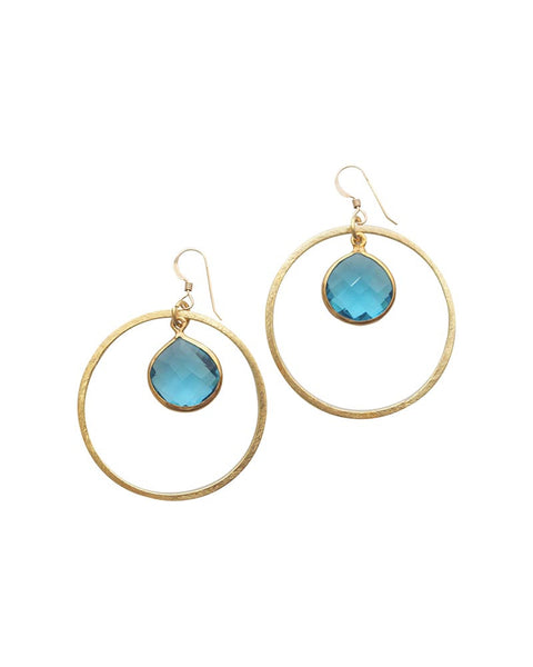 Sirissima Teardrop Hoop Earrings