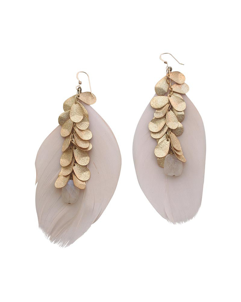 Sirissima Heather Feather Earrings