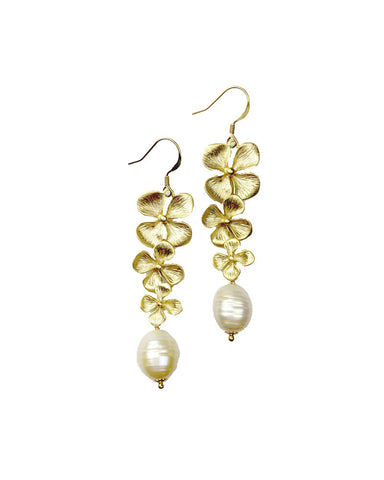 Sirissima Garland Freshwater Pearl Earrings