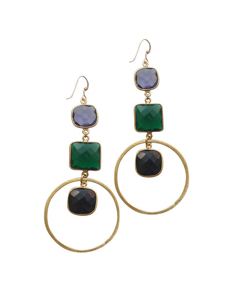 Sirissima Anna Dangle Hoop Earrings