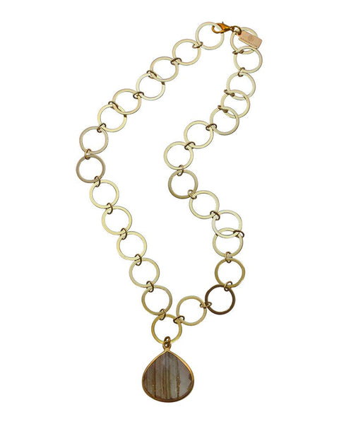 Sirissima Teardrop Link Necklace