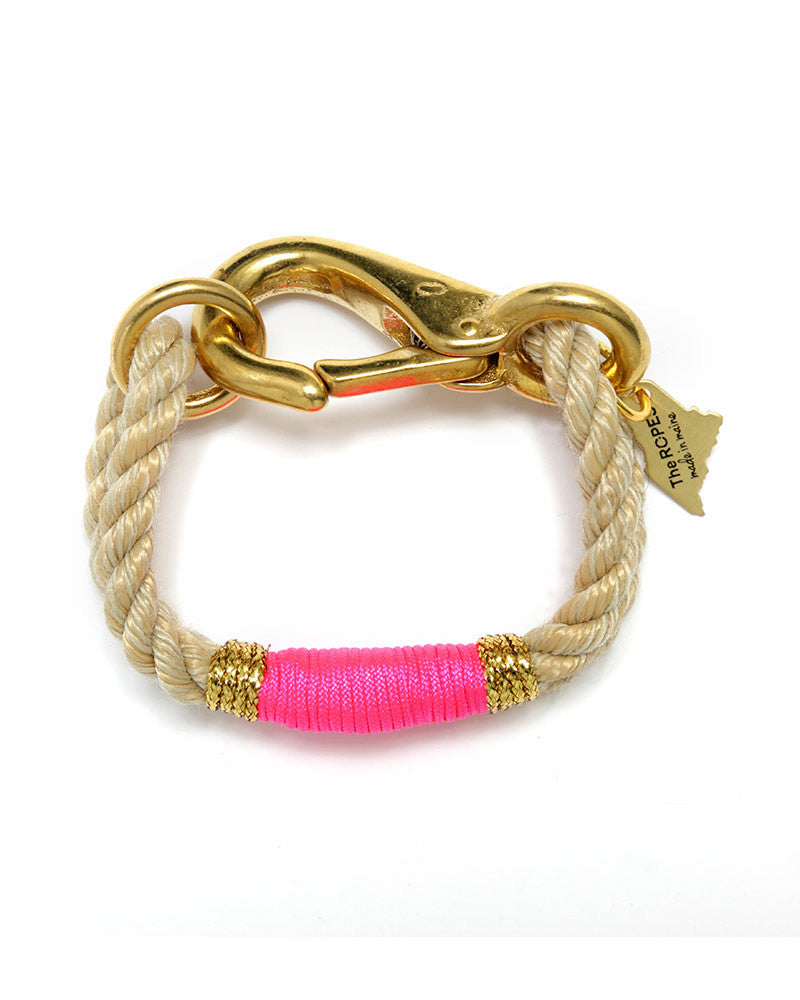 pink gold natural bracelet for women designer the ropes