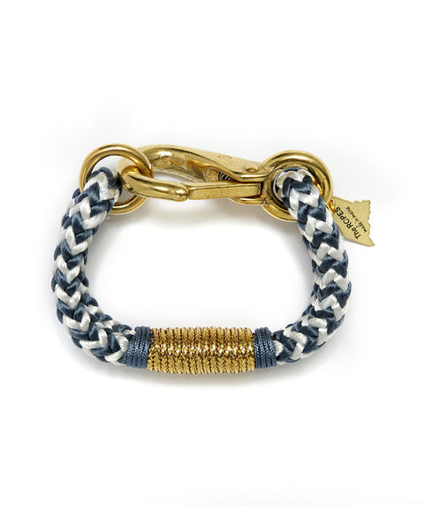 blue chevron the ropes blue and gold bracelets designer womens jewelry