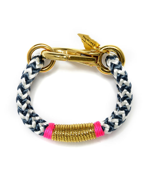 chevron pink gold navy womens jewelry the ropes